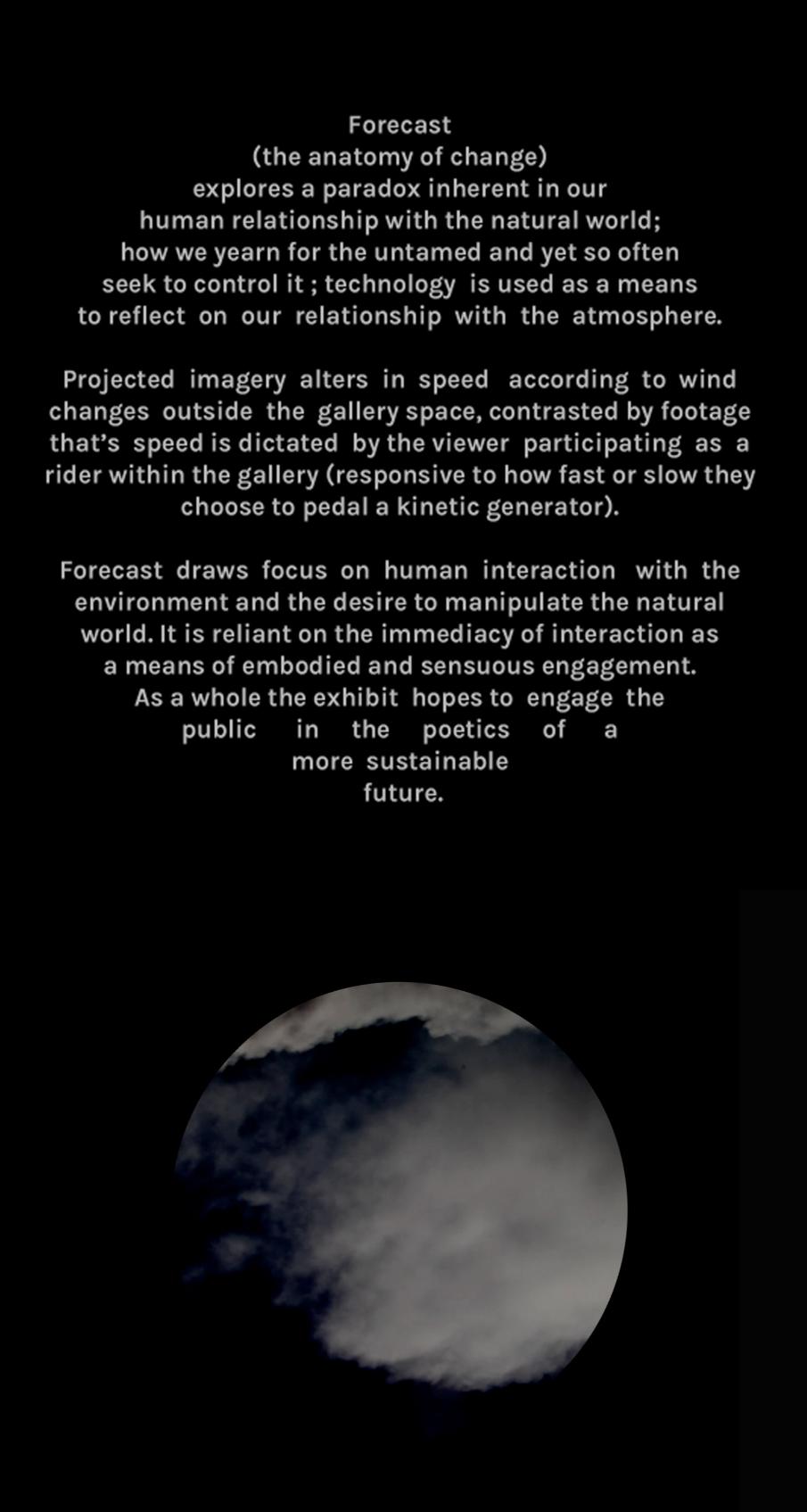 forecast (the anatomy of change) - Selena de Carvalho